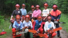 Women's chainsaw course