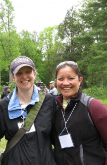 Presenters Allyson Muth and Amanda Mahaffey at Loving the Land through Working Forests